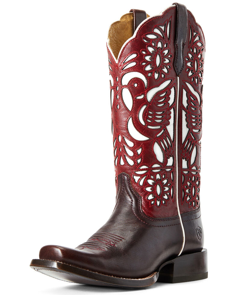 Ariat Women's Dorinda Western Boots - Square Toe, Brown, hi-res