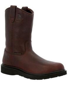 Georgia Boot Men's Suspension Waterproof Western Work Boots - Soft Toe, Brown, hi-res