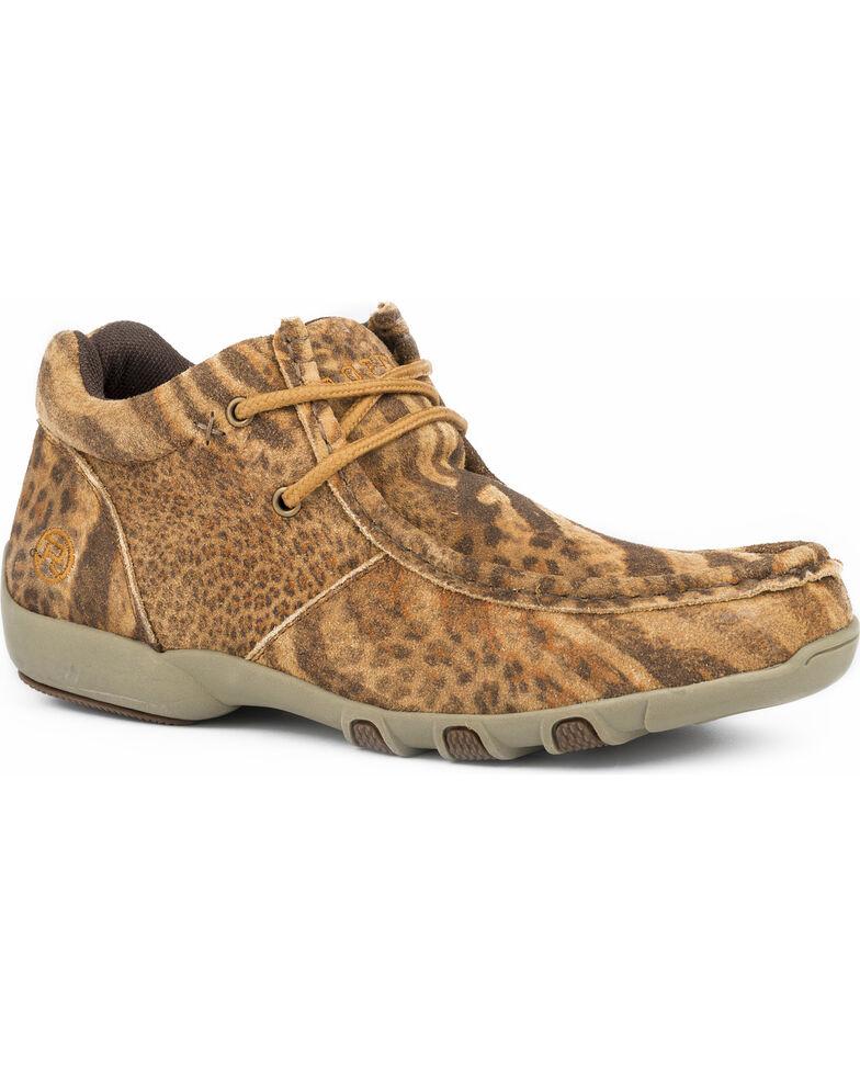 Roper Women's High Country Cassie Chukka Shoes, Tan, hi-res