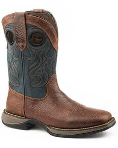 Roper Men's Wilder Western Boots, Brown, hi-res