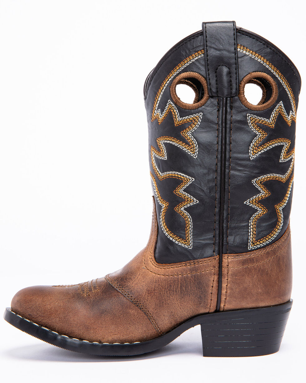 Cody James Boys' Black & Brown Western Boots - Round Toe, Brown, hi-res