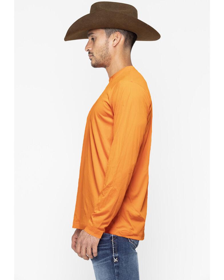Wrangler Riggs Men's Green Crew Performance Long Sleeve Work T-Shirt - Big & Tall, Bright Orange, hi-res