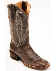 Idyllwind Women's Bandit Western Performance Boots - Wide Square Toe, Dark Brown, hi-res