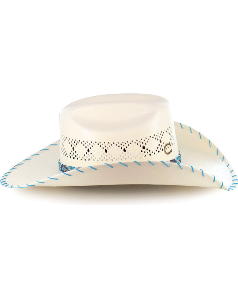 Charlie 1 Horse Girls' Apache Straw Hat, Natural, hi-res