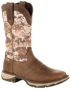 Durango Women's Desert Camo Western Boots - Square Toe, Brown, hi-res