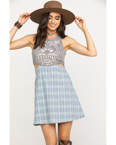 fd6c032f4 White Crow Women's Grey Festival Tank Plaid Skirt Dress