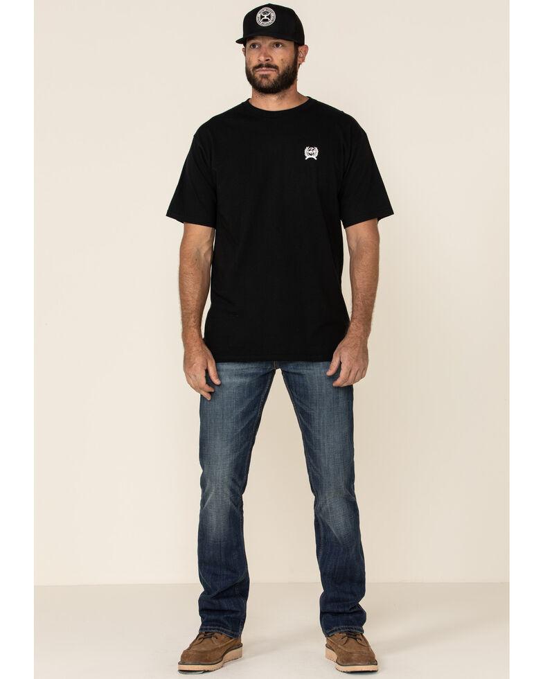 Cinch Men's Black Authentic Circle Logo Graphic T-Shirt , Black, hi-res