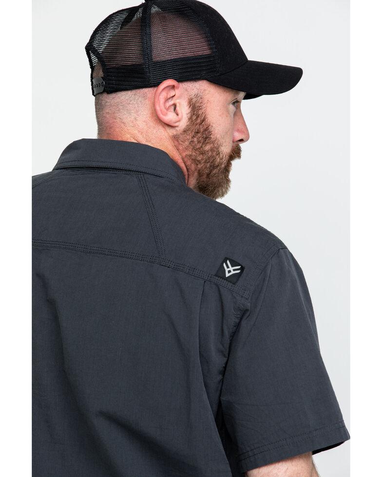 Hawx® Men's Solid Yarn Dye Two Pocket Short Sleeve Work Shirt , Charcoal, hi-res