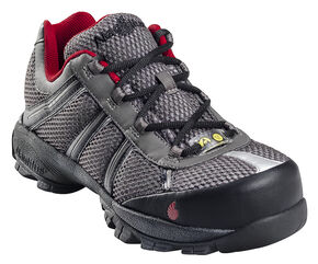 Nautilus Men's Static Dissipative Work Shoes - Steel Toe, Grey, hi-res