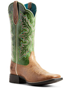 Ariat Women's Breakout Tan Western Boots - Wide Square Toe, Brown, hi-res