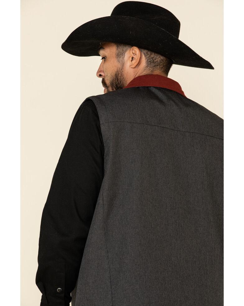 Cinch Men's Charcoal Solid Textured Bonded Vest , Charcoal, hi-res