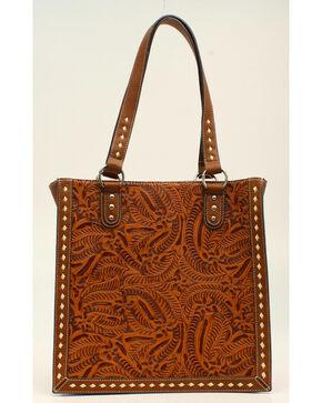 Blazin Roxx Floral Tooled Tote Bag, Tan, hi-res