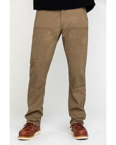 Ariat Men's Khaki Rebar M4 Made Tough Durastretch Double Front Straight Work Pants - Big , Beige/khaki, hi-res