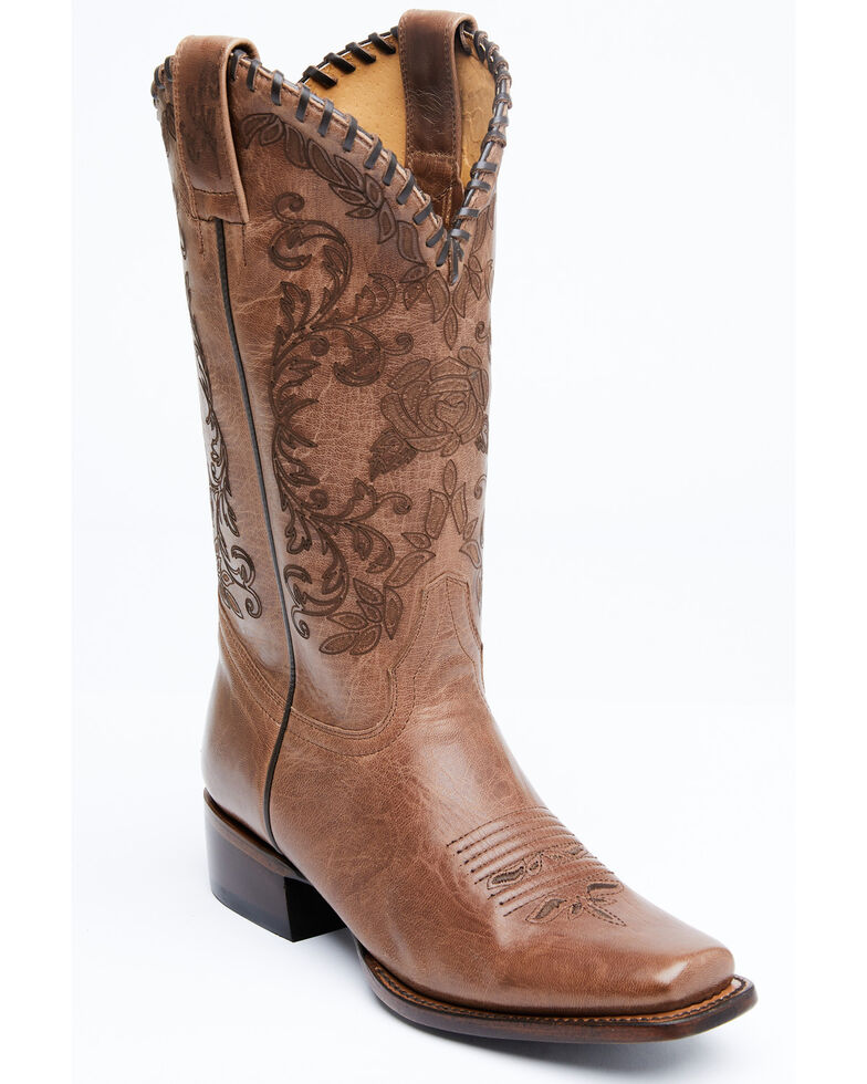 Shyanne Women's Fantasia Western Boots - Square Toe, Brown, hi-res
