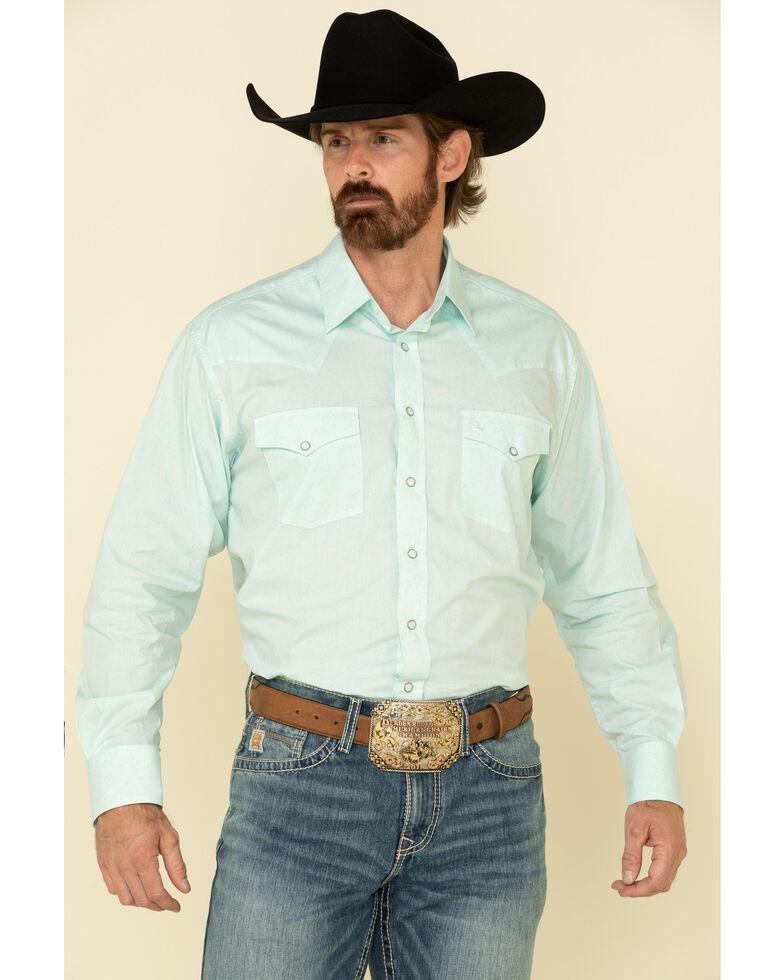 Cinch Men's Light Blue Paisley Print Long Sleeve Western Shirt , Light Blue, hi-res