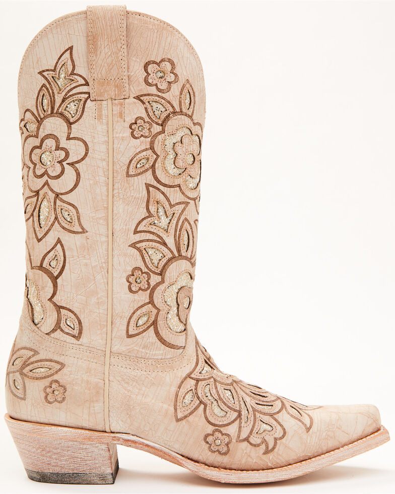 Shyanne Women's Belle White Western Boots - Snip Toe, White, hi-res