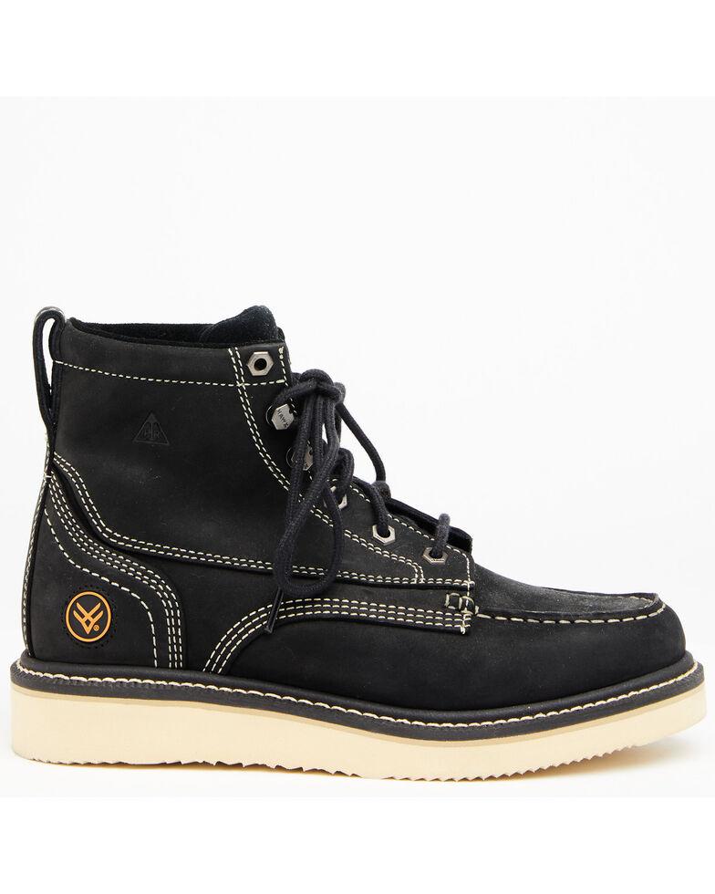 Hawx Men's Black Lace-Up Work Boots - Soft Toe, Black, hi-res