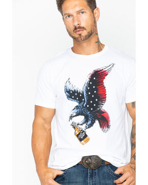 Moonshine Spirit Men's Eagle Whiskey T-Shirt, White, hi-res