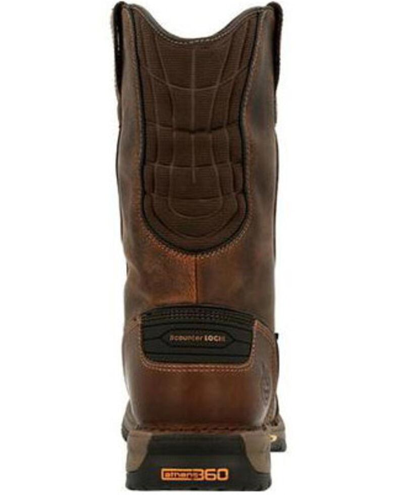 Georgia Boot Men's Athens 360 Waterproof Western Work Boots - Steel Toe, Brown, hi-res