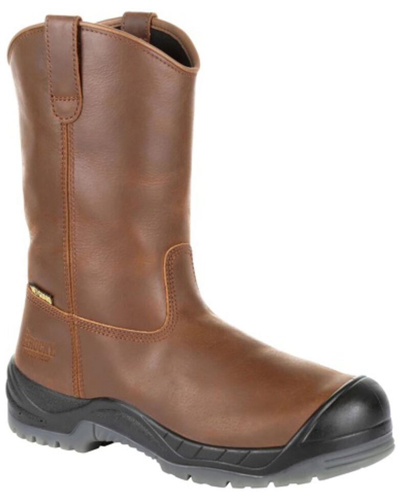 Rocky Men's Worksmart Internal Met Guard Western Work Boots - Composite Toe, Brown, hi-res