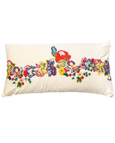 Johnny Was Viney Embroidered Pillow, White, hi-res