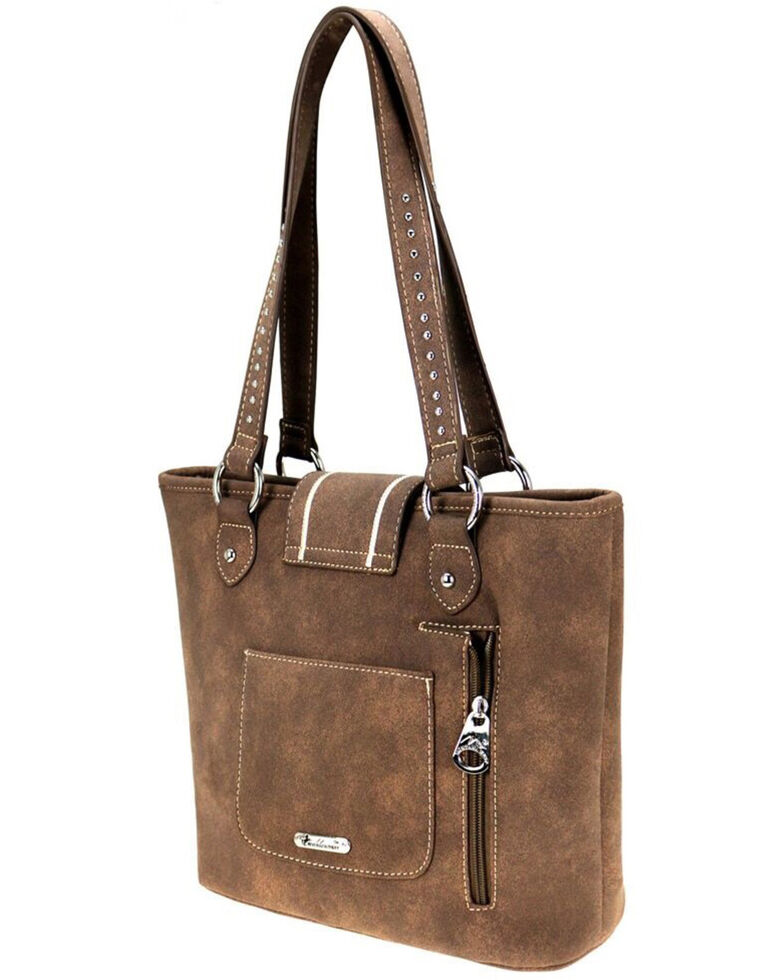 Montana West Women's Cactus Cutout Concealed Carry Tote, Coffee, hi-res