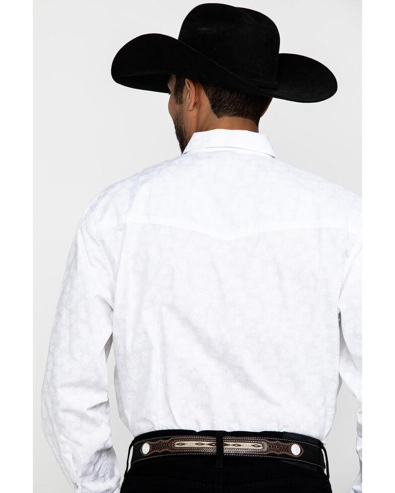 Resistol Men's White Lantana Textured Solid Long Sleeve Western Shirt , White, hi-res