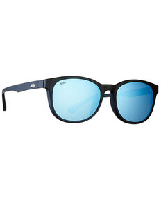 Hobie Bells Satin Black & Cobalt PC Polarized Sunglasses , Black, hi-res