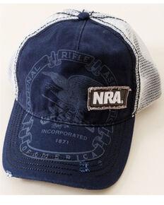 NRA Men's Blue Vintage Logo Graphic Patch Mesh-Back Ball Cap , Blue, hi-res