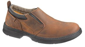 Caterpillar Conclude Slip-On Work Shoes - Steel Toe, Dark Brown, hi-res