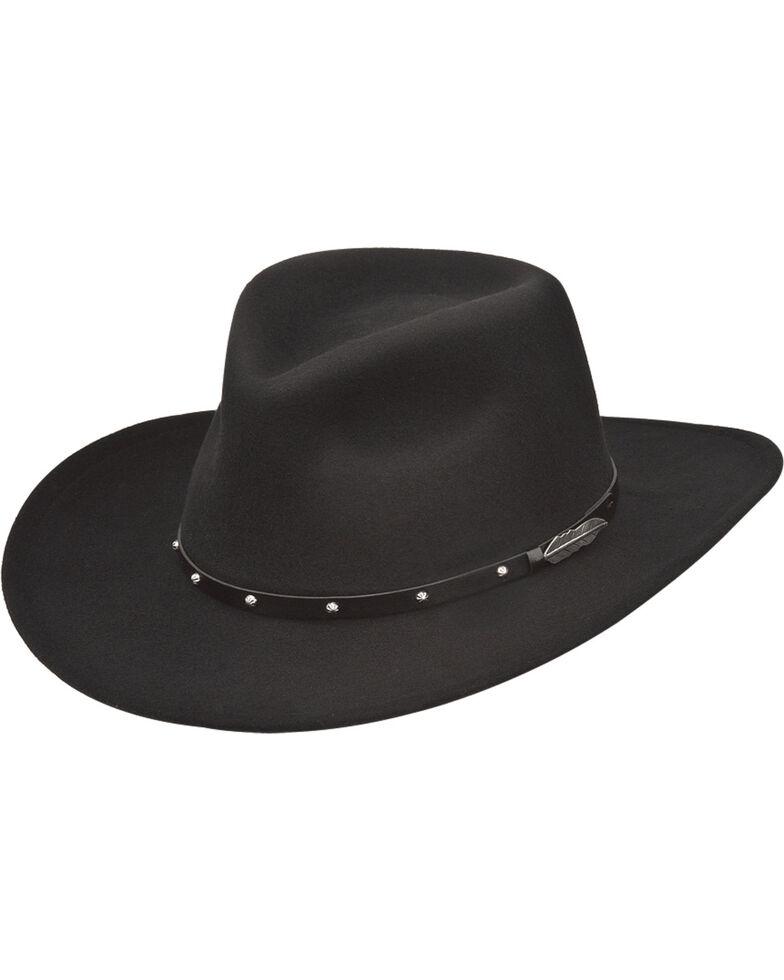Black Creek Men's Feather Concho Western Hat , Black, hi-res