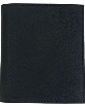 Western Express Men's Tall Leather Bi-Fold Wallet, Black, hi-res