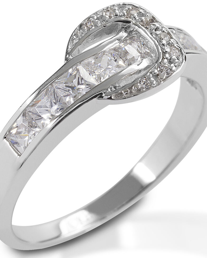 Kelly Herd Women's Contemporary Buckle Ring, Silver, hi-res
