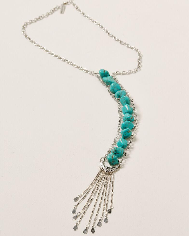 Idyllwind Women's Dive Down South Drop Necklace, Silver, hi-res