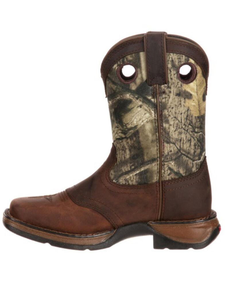 Durango Boys' Camo Saddle Western Boots - Square Toe, Brown, hi-res