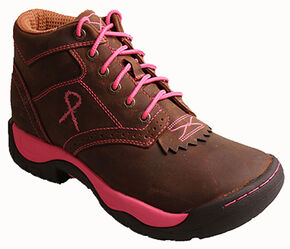 Twisted X Women's Tough Enough to Wear Pink Kiltie Hiking Boots, Brown, hi-res