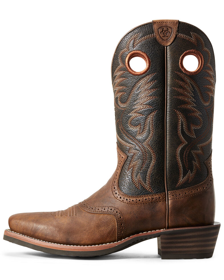 Ariat Men's Heritage Roughstock Western Boots - Square Toe, Brown, hi-res