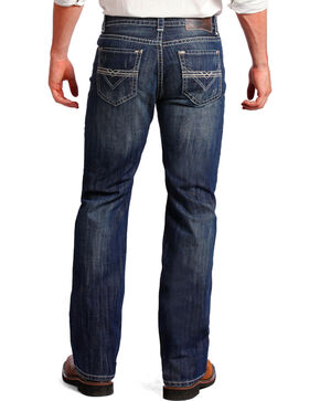 Rock & Roll Cowboy Men's Double Barrel Relaxed Fit Jeans - Straight Leg, Indigo, hi-res