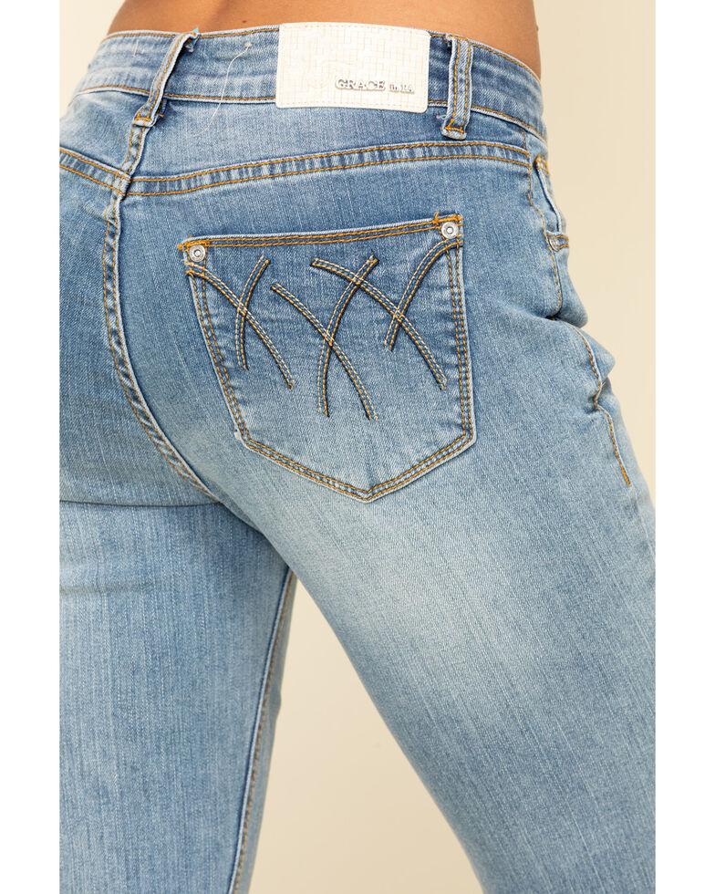 Grace in LA Women's Light Wash Flare Jeans , Blue, hi-res