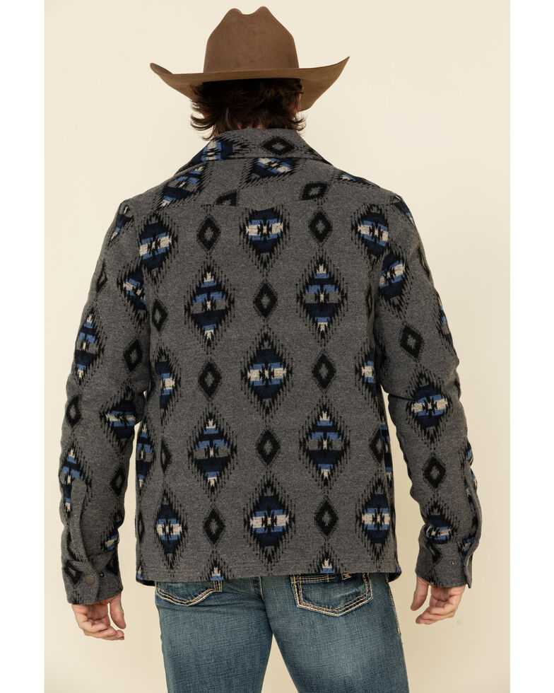 Powder River Outfitters Men's Aztec Jacquard Jacket , Charcoal, hi-res