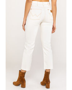 Wrangler Modern Women's Bone Ivory Heritage Crop Straight Jeans , Ivory, hi-res