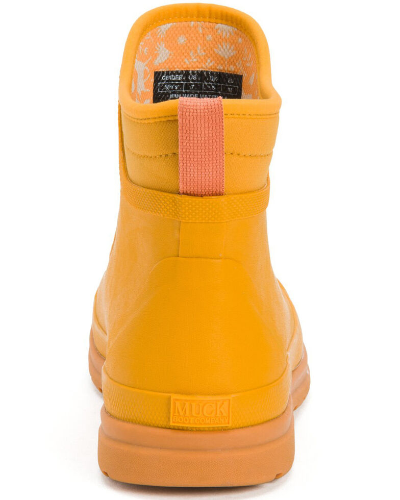 Muck Boots Women's Yellow Muck Originals Lace-Up Boots - Round Toe, Yellow, hi-res