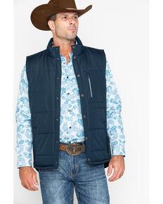 Cody James Core Men's Telluride Quilted Vest , Navy, hi-res