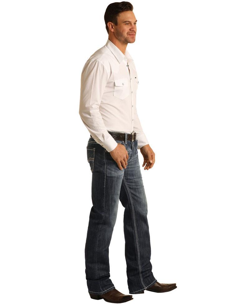 Rock & Roll Denim Men's Dark Pistol Stretch Regular Straight Jeans , Indigo, hi-res