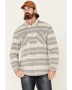 Pendleton Men's Blue Stripe Beach Shack Long Sleeve Button-Down Western Shirt , Blue, hi-res