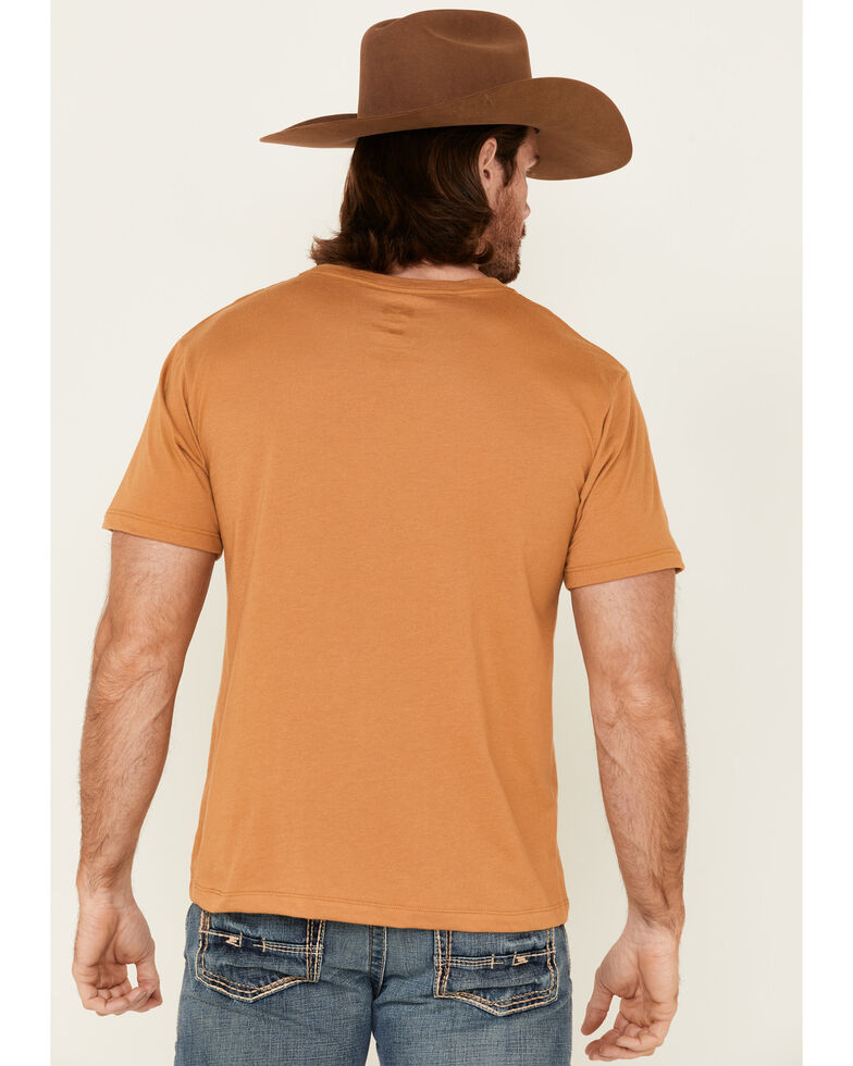 HOOey Men's Mustard Lock Up Logo Short Sleeve T-Shirt , Yellow, hi-res