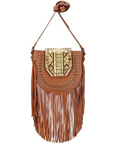 Montana West Women's Aztec Fringe Crossbody Bag, Brown, hi-res