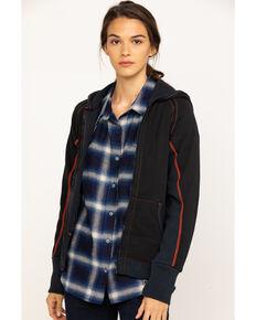 Dovetail Women's Double Layer Zip Hoodie , Black, hi-res