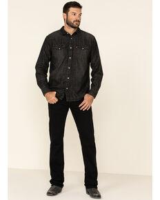 Levi's Men's 527 Native Cali Black Stretch Slim Bootcut Jeans , Black, hi-res