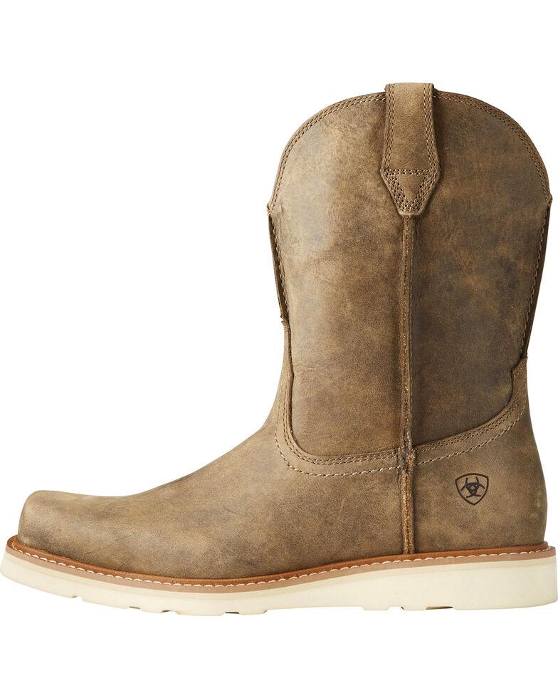 Ariat Men's Rambler Recon Brown Bomber Western Boots - Square Toe, Lt Brown, hi-res